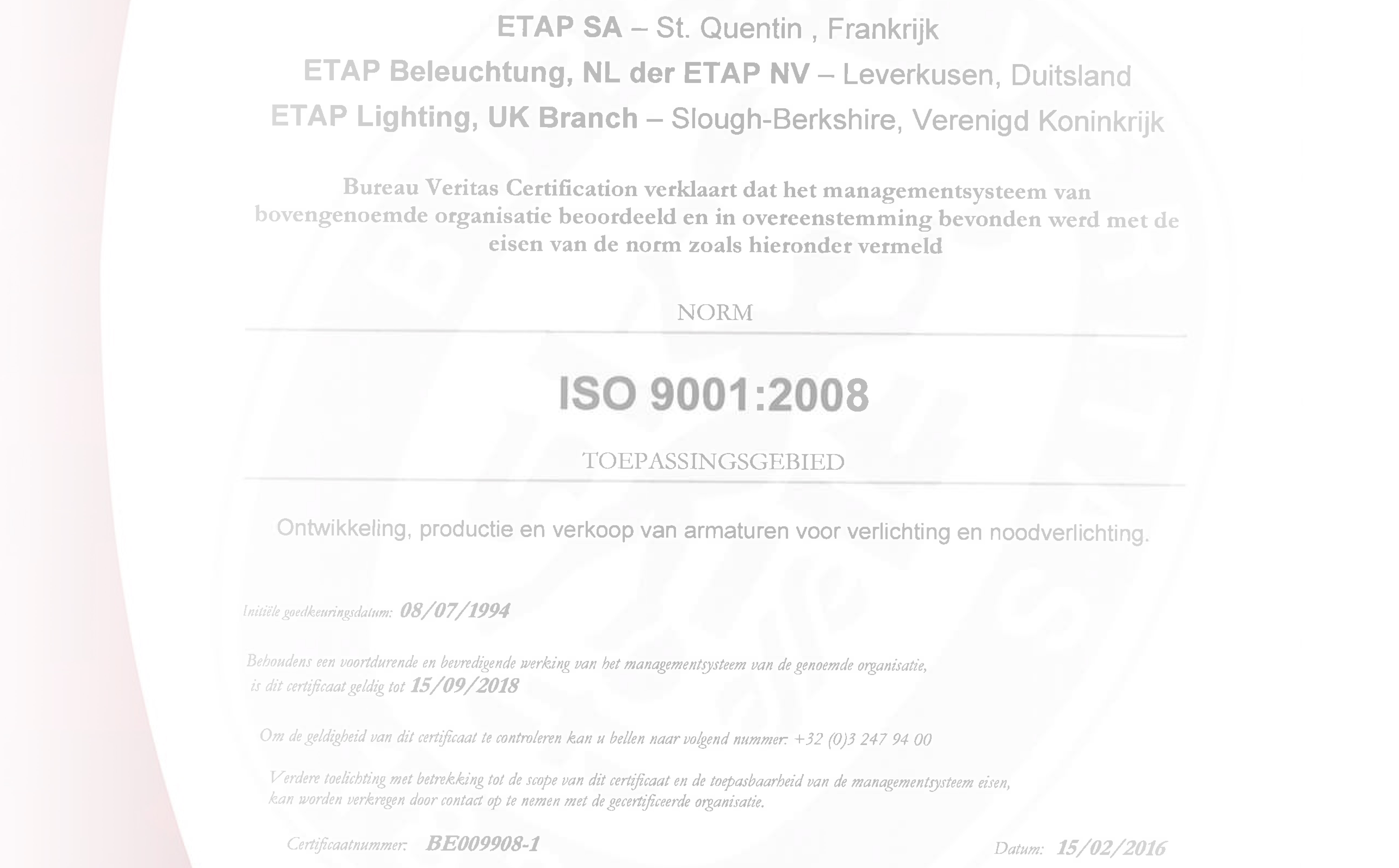 etap certificates etap lighting